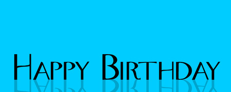 blue texture: Vector illustration with the words happy birthday.