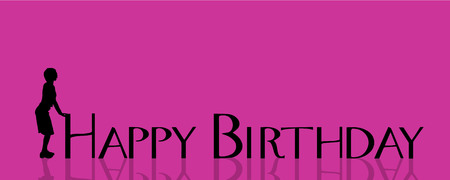 title emotions: Vector illustration with the words happy birthday.