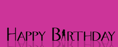striptease women: Vector illustration with the words happy birthday.
