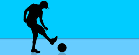 Vector silhouette of a man who sports.
