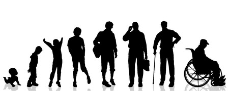 Vector silhouette generation on a white background.