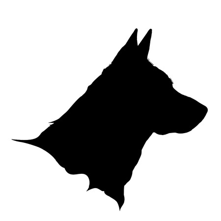 Vector illustration of dog logo on a white background.