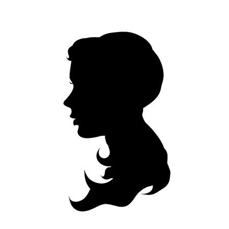 Ilustración del vector de la cara de una mujer en el fondo blanco.