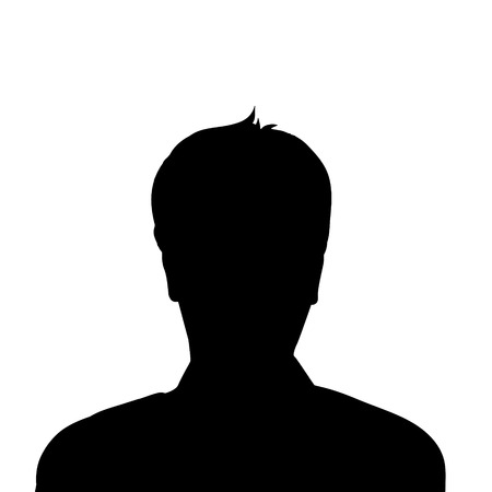 deatil: Vector silhouette of man on white background.