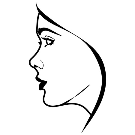 black woman: black and white vector silhouette woman