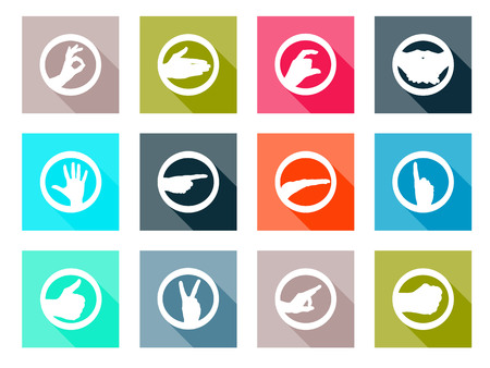 business communication: flat design icons of communication and business Illustration