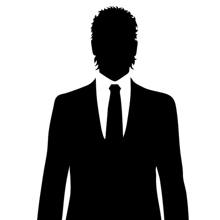 anonym: Vector silhouette suit on a black background. Illustration