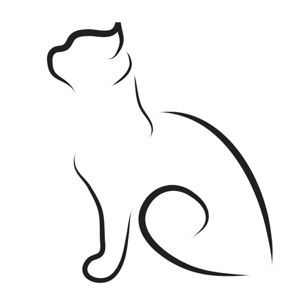 Vector illustration of cat logo on a white background.