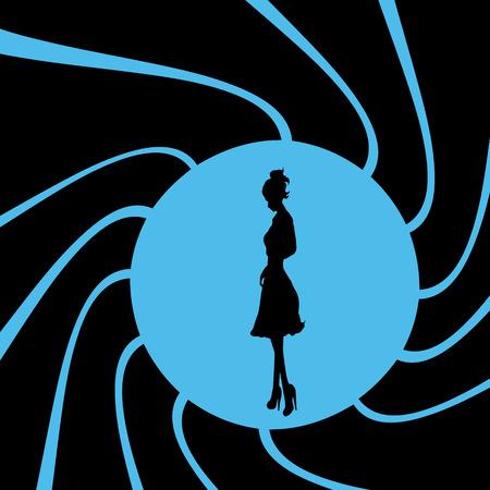 bond: Vector illustration of girl on bond theme