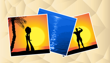 photo collage: Vector illustration of a photo collage holiday