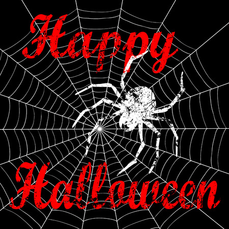 scratched: Vector illustration of Happy Halloween scratched font