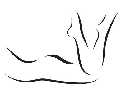 Vector logo donna su uno sfondo bianco. Archivio Fotografico - 61576529