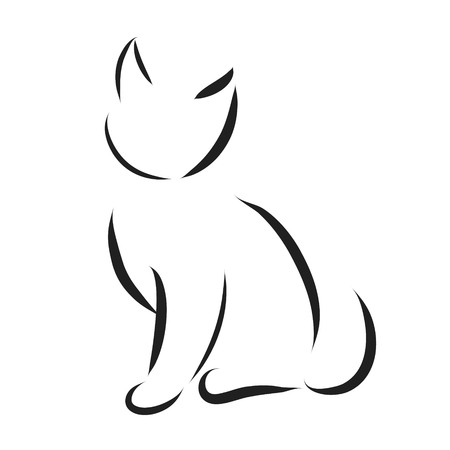 Vector cat logo on a white background.