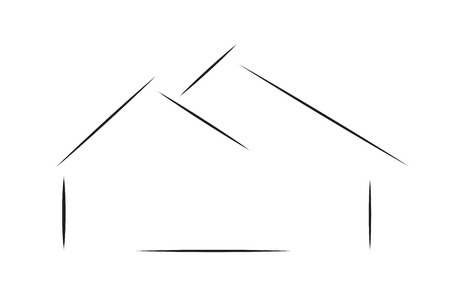 Vector logo house on a white background.