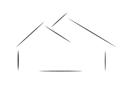 Vector logo house on a white background. Logo