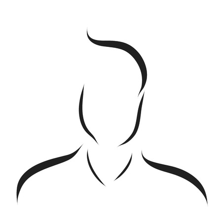 sexy male model: Vector logo man on a white background. Illustration