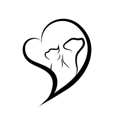 Vector animal logo on a white background. Logo