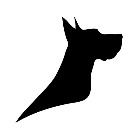 Vector dog logo on a white background.