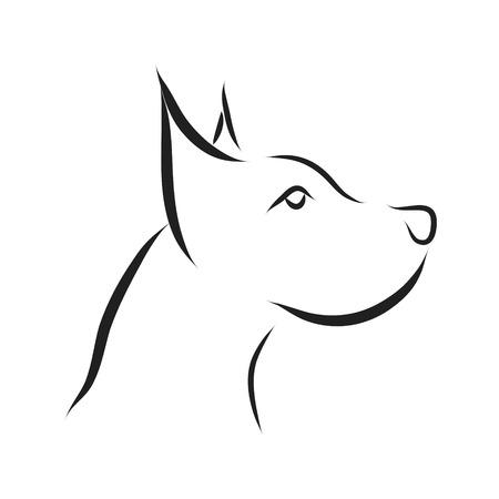 Vector dog logo on a white background.