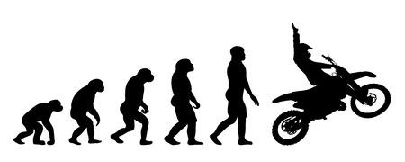 Vector evolution business silhouette on white background Illustration