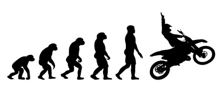Vector evolution business silhouette on white background