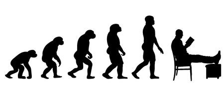 les gens d'évolution vecteur silhouette sur fond blanc