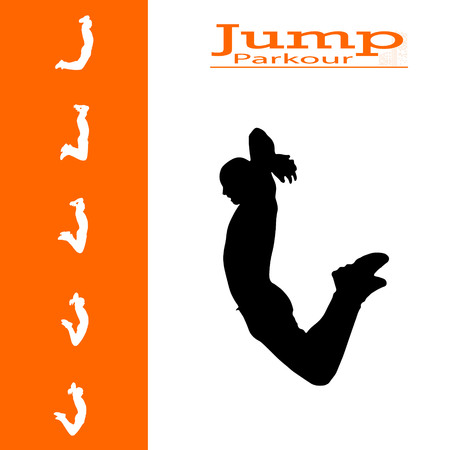 vector isolated collection of man who jumps