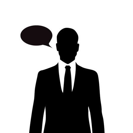anonym: Vector silhouette of man on white background.