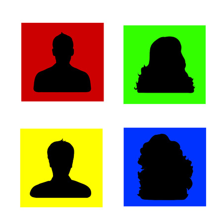 anonym: Vector silhouette of people on white background.