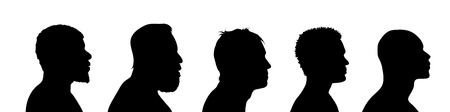 black people: Vector silhouette of man on white background.