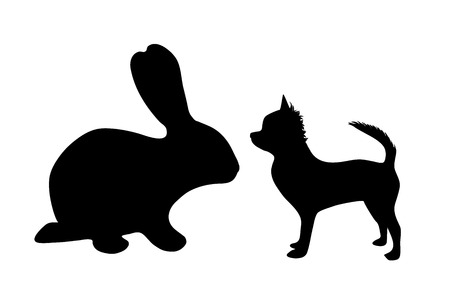 nice stay: Vector silhouette of animal on white background. Illustration