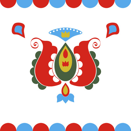 folklore: illustration of folklore decoration on white background