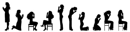 nice body: Vector silhouette of woman on white background.