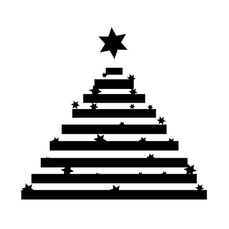 christmas tree illustration: Vector illustration Christmas tree on white background.