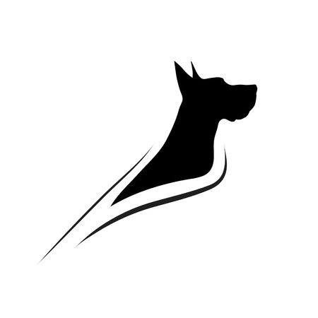 doggie: Vector illustration of dog on a white background.