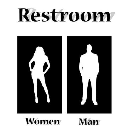 Vector illustration restroom on a white background.