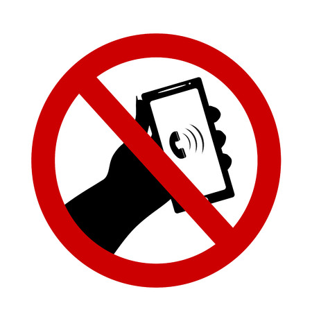 no cell phone sign: Vector illustration of a ban on the use of mobile phones.