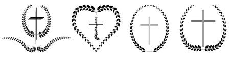 laurel leaf: Vector illustration different laurel leaf on white background