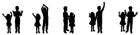 felicity: Vector illustration silhouettes of boy and girl Illustration