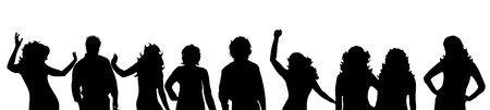 noname: Vector silhouette of people on white background.