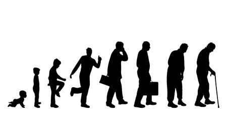 Vector illustration of generation of man. Illustration