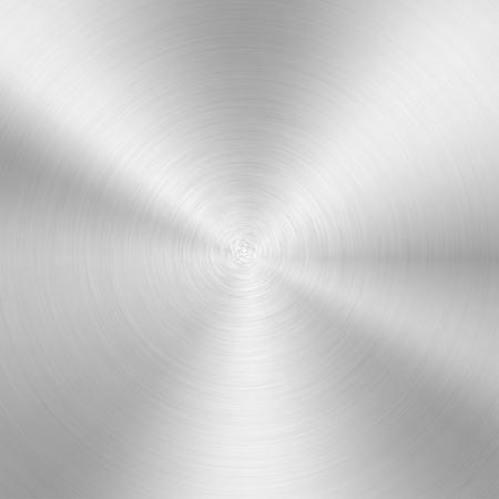 Vector illustration grey aluminium metal texture background