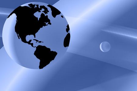 reflect: Vector illustration earth on abstract blue background Illustration