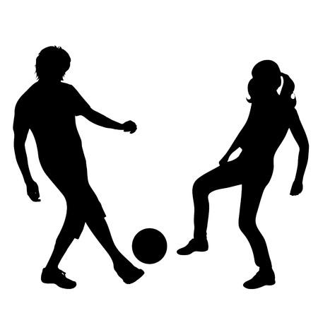 Vector silhouette de couple sur fond blanc Banque d'images - 76706447