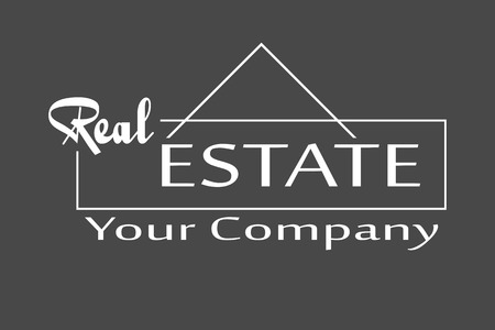 house construction: Vector illustration Real Estate logo design template.