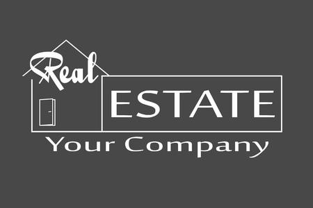 real estate house: Vector illustration Real Estate logo design template.