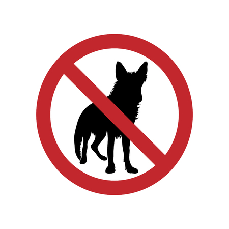 Dog ban mark on a white background. Banque d'images - 116261000