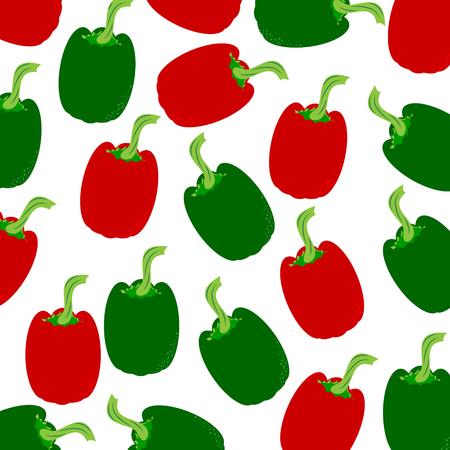 Vector illustration of painted peppers on white background. Symbol of vegetable, food,vegetarian,vegan. Illustration