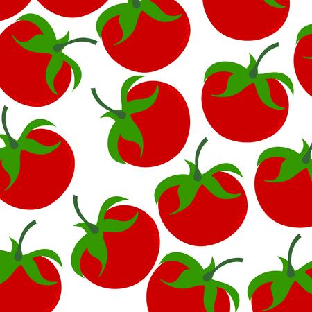 Vector illustration of painted tomatoes on white background. Symbol of vegetable, food,vegetarian,vegan.