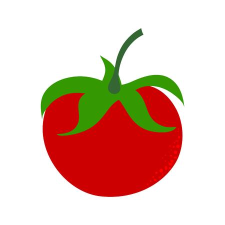 Vector illustration of painted tomate on white background. Symbol of vegetable, food,vegetarian,vegan.